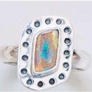 NWOT OOAK Boulder opal ring